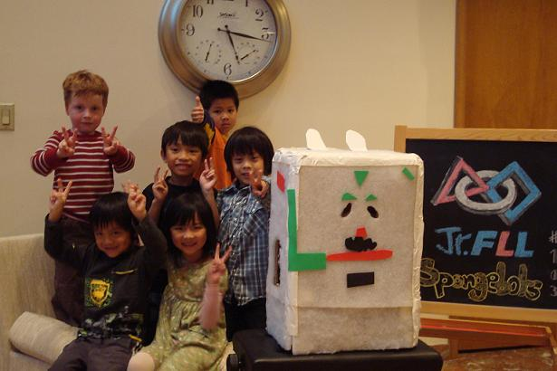 Spongebots (Jr.FLL in the first year)