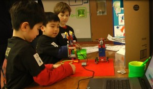 Robosharks, a Jr.FLL team of LRC, explained their project to visitors