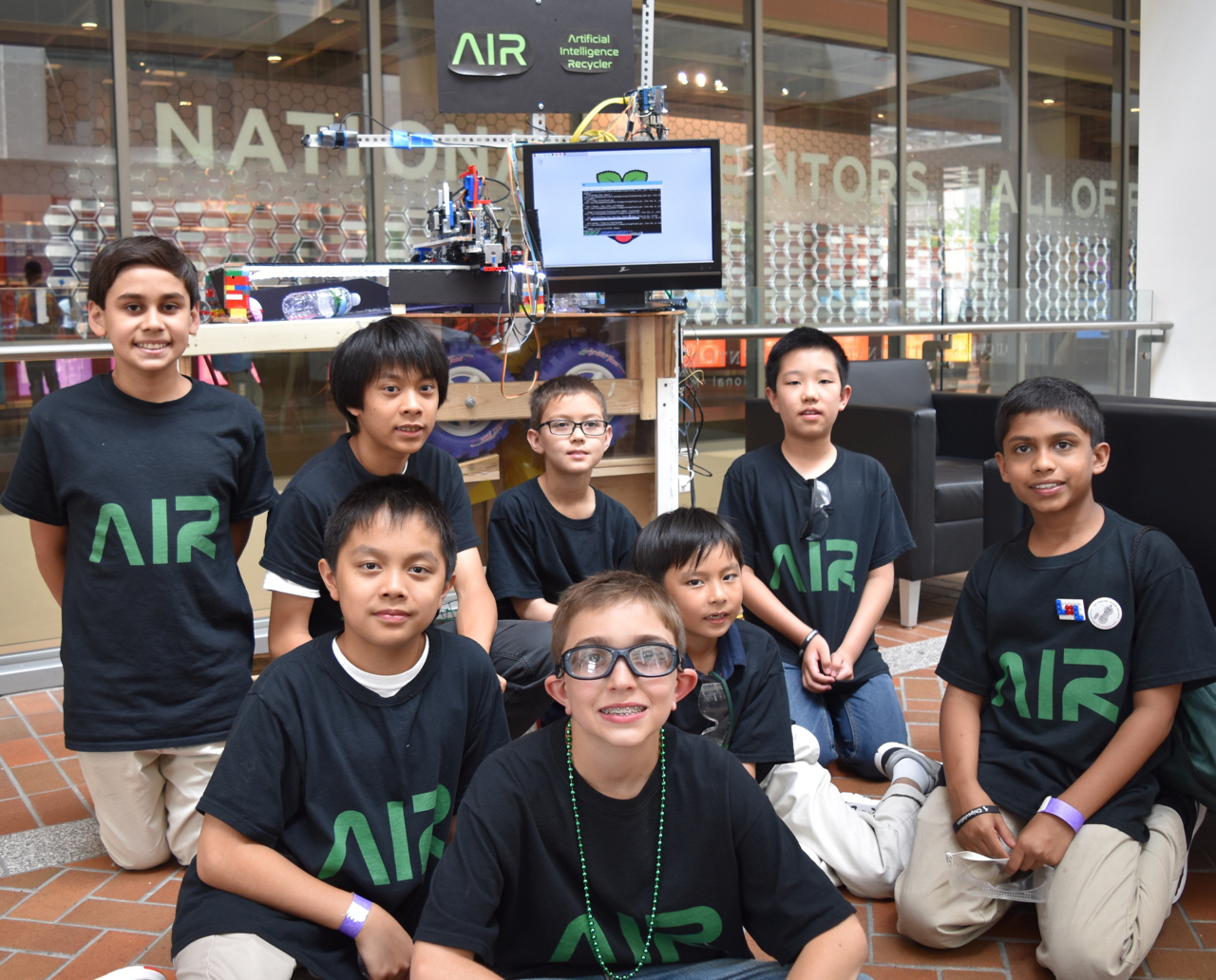 Team A.I.R. Of Livingston Robotics Club. We Invented The Artificial  Intelligence Recycler (A.I.R). AIR Is An Automated Recycling Machine, ...